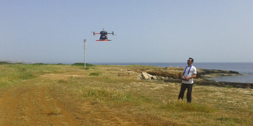 Flight session with multicopter (UAV)