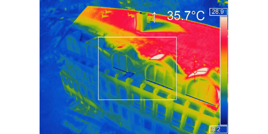 High-resolution georeferenced thermal images